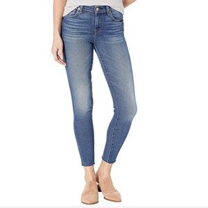 "7 For All Mankind ""Ankle Skinny"" with Cutoff Hem"